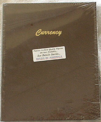 Dansco Currency Albums (Dansco Coin Album 7001 Currency Stock Book 9 pages 3 Pockets per Page )