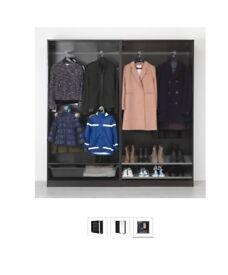 Large Black Wardrobe PAX Ikea 150x44x201 cm