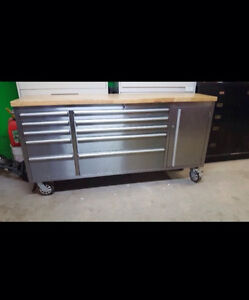 Heavy Duty 72 Inch (6 Foot) Stainless Steel Work Bench
