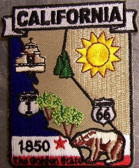 Embroidered USA State Patch California NEW montage