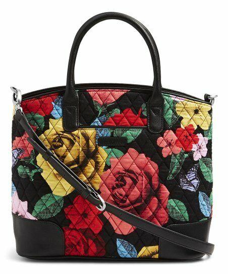 VERA BRADLEY~Day Off Satchel or Shoulder Handbag~HAVANA ROSE