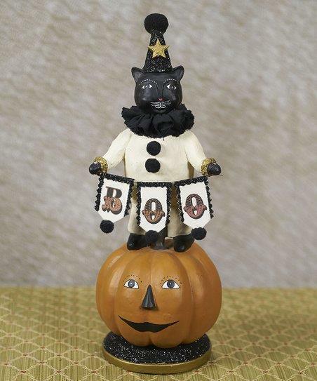 "Heather Myers Halloween Black Cat Clown On JOL Pumpkin Lucifer and Jack NEW 12"""