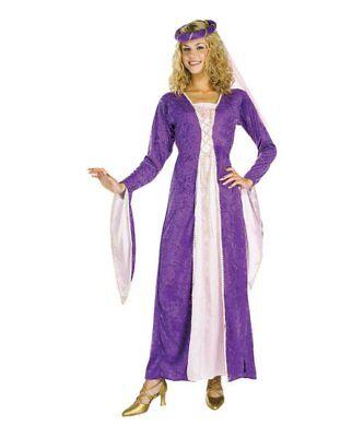 Renaissance Princess Gown Costume Rubies Purple Gold Standard size 8-12 NEW - Purple Renaissance Costumes