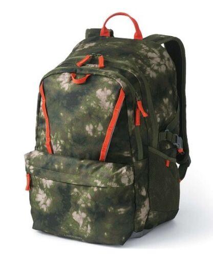 Lands/' End Girls/' ClassMate Black Multi Floral Print Medium Backpack