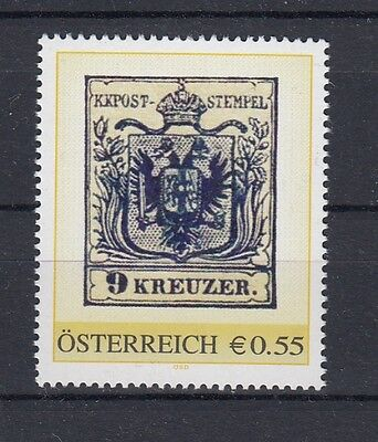 Österreich  PM   Briefmarke  9 Kreuzer    **