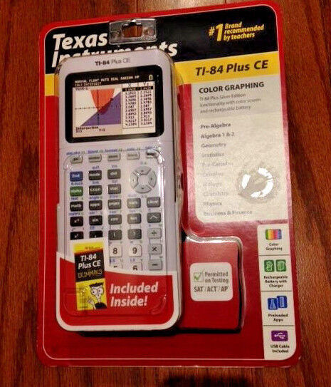 NEW Texas Instruments TI-84 Plus CE Graphing Calculator, Whi