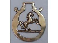 Rare Vintage REARING HORSE OFFSIDE Horse Brass