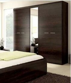 Delivery 1-3 days Brand New LATINA Wardrobe 200cm Sonoma Oak and Chocolate Oak Free Delivery