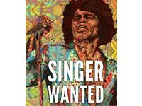 James Brown funk band looking for a lead singer.