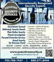 Muskoka Bodyguards Personal Security Licensed