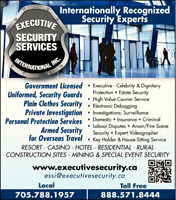 Armed Security Canadians Travel Security Family Emergencies