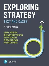 Exploring Strategy, Text and Cases, 11th edition