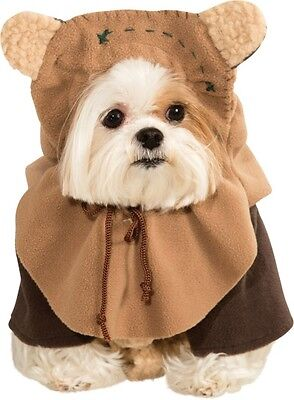 Haustier Hund Katze Ewok Star Wars Halloween Kostüm Outfit Verkleidung S-XL (Katze Kostüm Männlich)