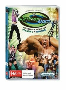 WWE-SUMMERSLAM-ANTHOLOGY-VOL-3-DVD-5-Disc-Set-FREE-Slip-cover-WRESTLING