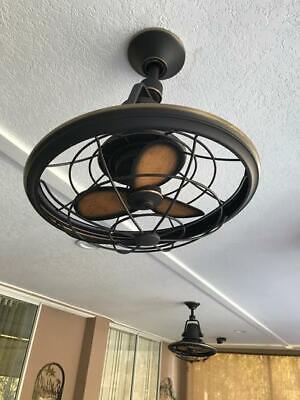 Home Decorators Bentley II 18 in. Indoor/Outdoor Tarnished Bronze Ceiling Fan