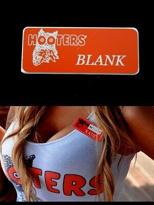 Halloweens Original Name (Blank Hooters Girl Uniform Name Tag Pin Badge Halloween Costume Accessory)