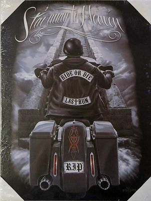 Dead Canvas (DGA Motorcycle Day of the Dead Stretched Canvas Wall Art Stairway to Heaven)