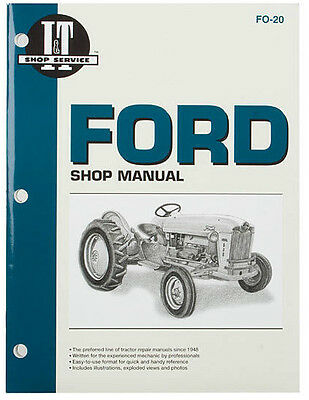 It Shop Manual For Ford 501 600 601 700 701 801 900 901 1801 2000 4000 4 Cyl