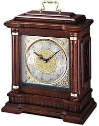 *BRAND NEW* Seiko Oak Case Metal Dial Clock Watch QXJ004BLH