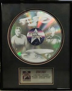 Star Trek 25th Anniversary Laser Etched Disc Limited Edition