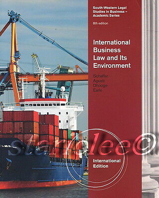 3 Days US International Business Law and Its Environment 8E Schaffer 8th