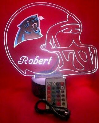 Carolina Panthers NFL Football Light Up Light Lamp LED With Remote Personalized](Light Up Footballs)