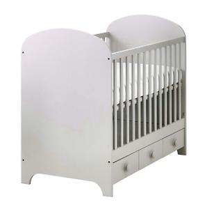 Gray Ikea Gonatt crib and Sealy Baby Posturepedic Mattress