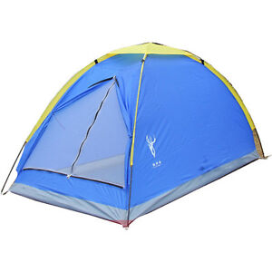 1 Person Blue Camping Hiking Backpacking Tent --- Easy Carry