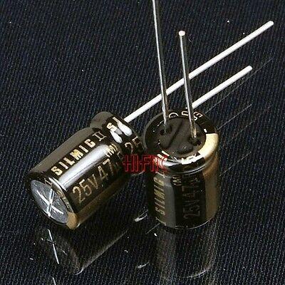 10pcs Elna Silmic Ii 47uf 25v Audio Capacitors