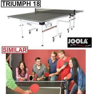 "NEW JOOLA TRIUMPH 18 TENNIS TABLE 11118 159568627 3/4"" MDF PAINTED SURFACE PING PONG TABLES PADDLE PADDLES SPORT TEAM..."