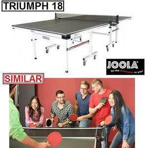 """NEW JOOLA TRIUMPH 18 TENNIS TABLE - 117567002 - 3/4"""" MDF PAINTED SURFACE PING PONG TABLES PADDLE PADDLES SPORT TEAM S..."""