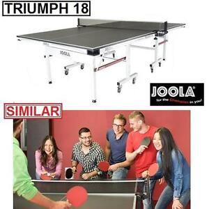 "NEW JOOLA TRIUMPH 18 TENNIS TABLE - 117567002 - 3/4"" MDF PAINTED SURFACE PING PONG TABLES PADDLE PADDLES SPORT TEAM S..."