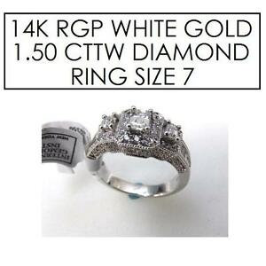 NEW* STAMPED 14K RPG DIAMOND RING 7 JEWELLERY - JEWELRY - 14K RPG WHITE GOLD - 1.50 CTTW 101665155