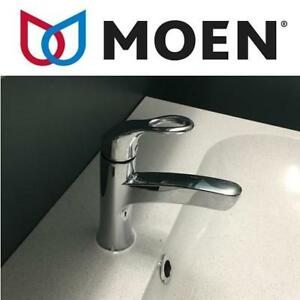 NEW MOEN ONE HANDLE BATHROOM FAUCET WS84900 152640502 WASHROOM RESTROOM LAVATORY KLEO LOW ARC CHROME