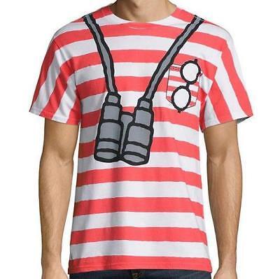 Neu wo Ist Waldo Herren Erwachsene Unisex S M L XL 2XL Gestreift Cosplay Kostüm
