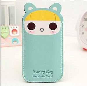 Cute Kawaii UP Leather Cell Phone Cover Case Pouch Protector iPhone 4s/5s bunny