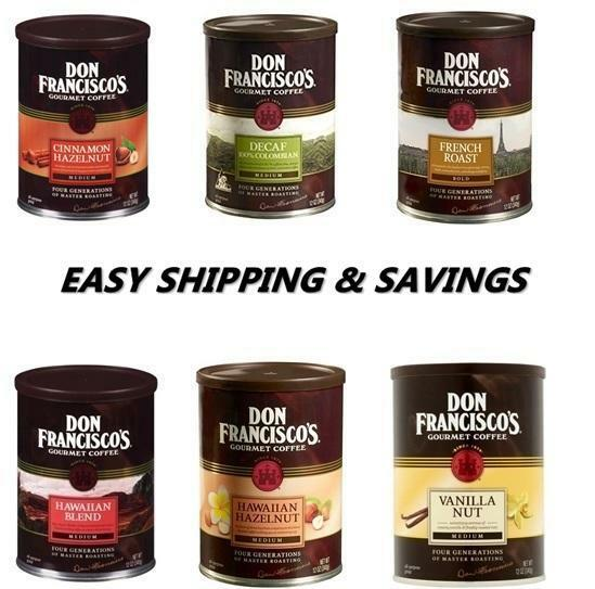 Don Franciscos 12 oz Ground Coffee Many Delicious options 1 Per Order Save