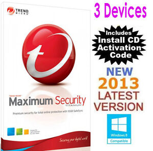 Trend Micro Titanium Maximum Security 2013 - Australia Version! 3 Users 1 Year!