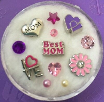 Floating Charm Set~*~MOM Mother's Day Love Gift  Present~*~Living Memory Lockets - Mother's Day Charms