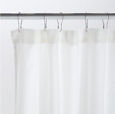 DWR Swarming Shower Curtain - White - Design Within Reach Bathroom Cotton