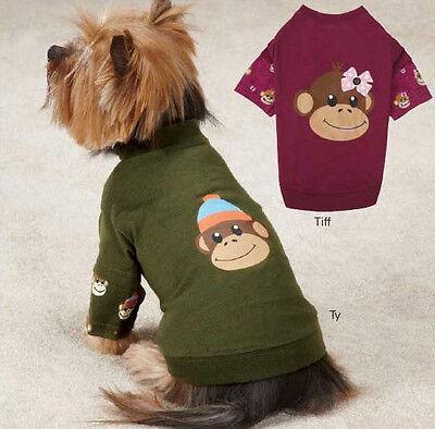 - Monkey Business Mock T-Shirt Dog Tee East Side Collection XXS-XL Pet Top