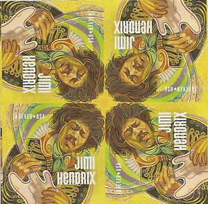 US Music Icons - Jimi Hendrix forever block MNH 2014 after 3/27