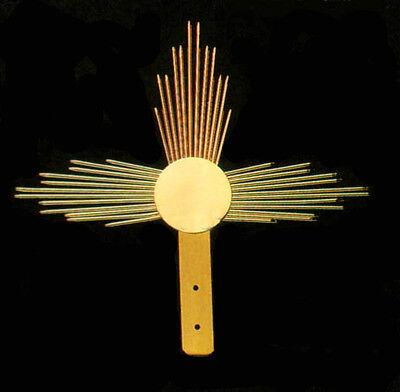 Aureole For Sacred Statue In Golden Brass Diameter Cm 12