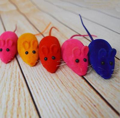 Squeaky Simulation Mouse Mice Sound Toy Soft Rubber Dog Puppy Cat Chew Rat Toys