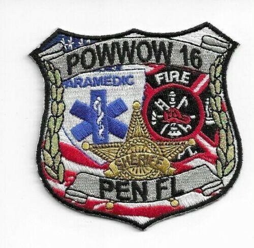 """Pow Wow 2016 Patch Royal Rangers Pen Florida First Responders 3""""T x 3""""W (2B1)"""