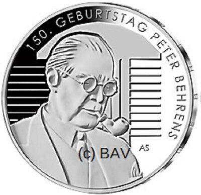 20 Euro Silber Gedenkmünze Deutschland 2018 150. Geburtstag Peter Behrens