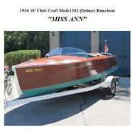 1934 Chris Craft deLuxe Runabout $20,000
