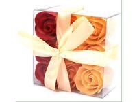 Set of 9 soap flower box