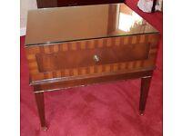 Heavy Vintage Style Mahogany Side Table