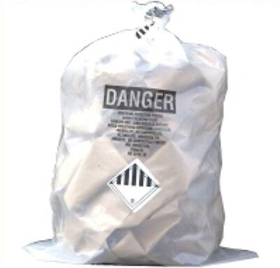 Thesafetyhouse 33 X 50 Clear Asbestos Bags 100roll